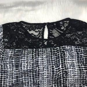 AGB Tops - AGB Lace Detail Sheer Blouse Medium